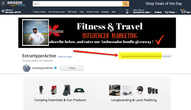 ExtraHyperActive Amazon Influencer Page