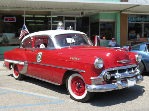 classic fire chief car