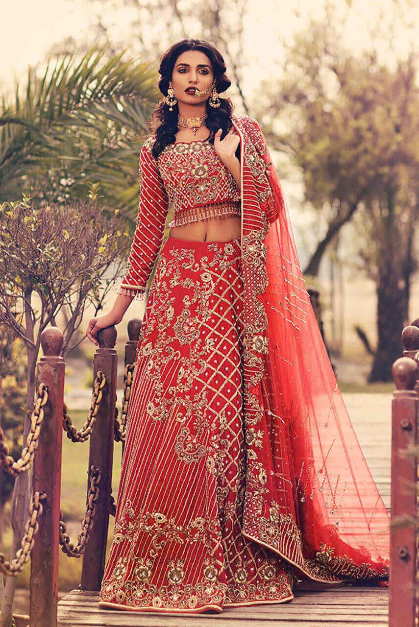 Traditional Pakistani Bridal Barat Dresses by Faraz Abid Sheikhu