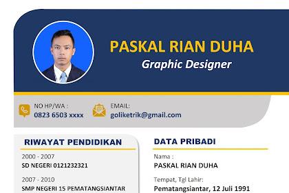 Membuat CV Lamaran Kerja Menarik - Download Template Gratis