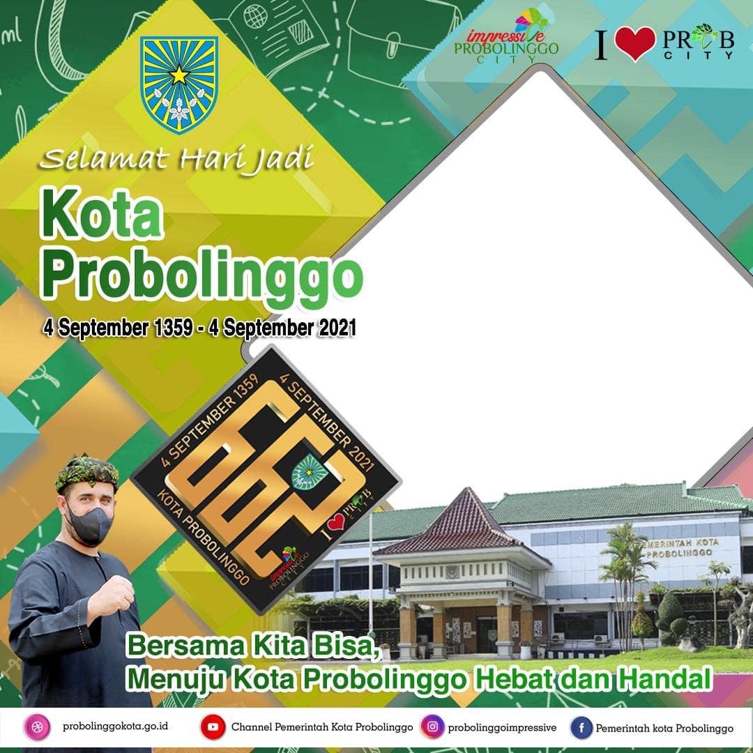 Link Template Desain Frame Bingkai Foto Twibbon Hari Jadi Kota Probolinggo 2021