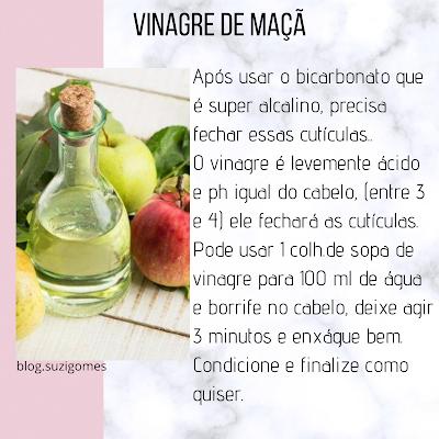 usar vinagre de maçã como condicionador