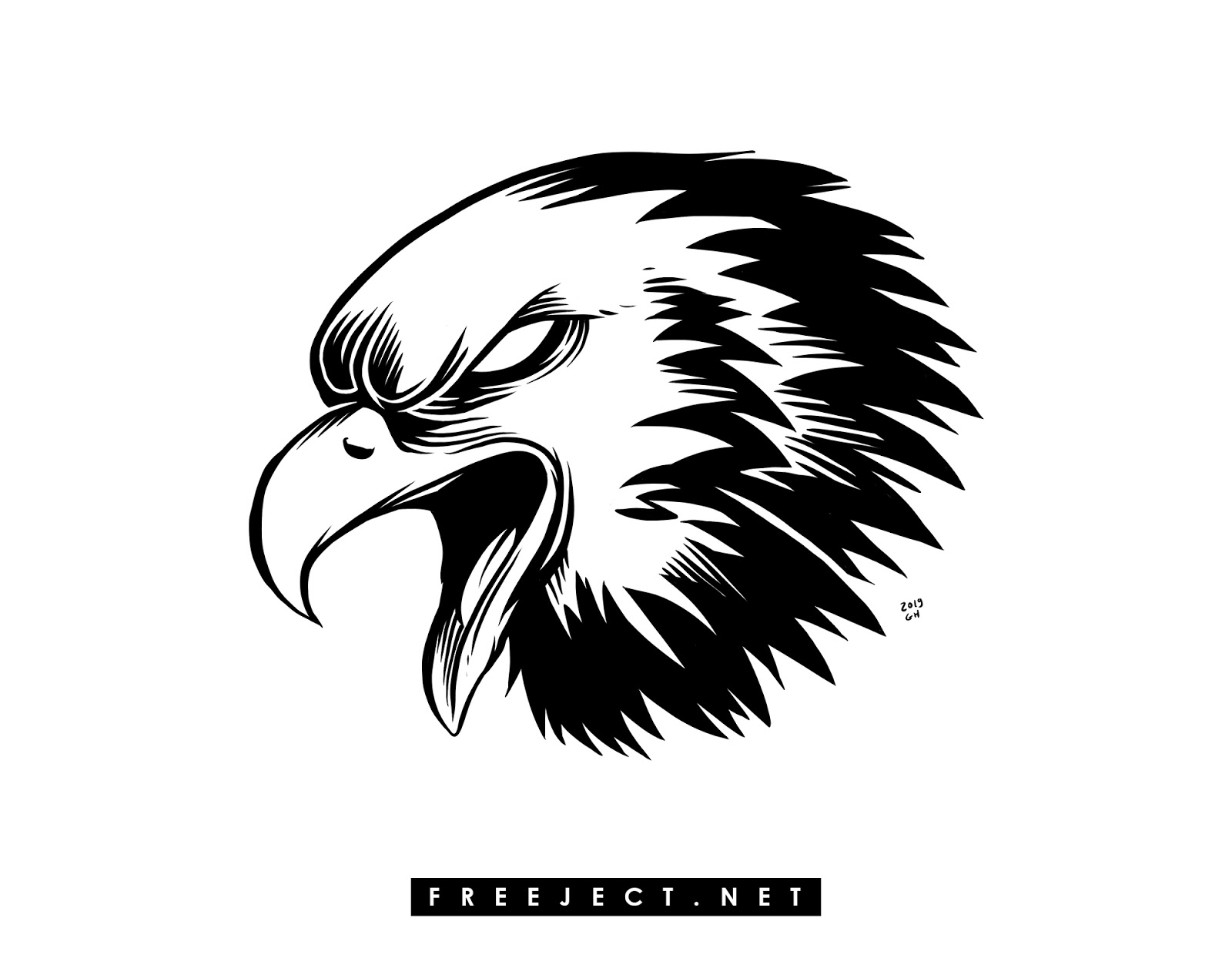 Free Download Eagle Head Illustration