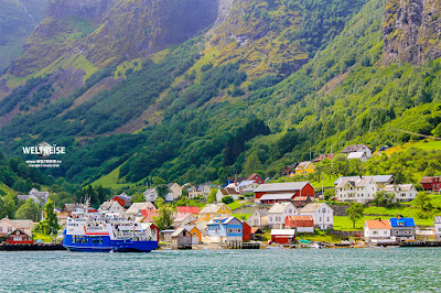 Skagastøl Fähre in Undredal Norwegen