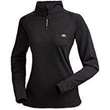 Nordcap Damenfunktionsshirt, schnelltrocknendes Langarm-Shirt in Schwarz, für Sport & Outdoor-Aktivitäten, Herren-Thermoshirt (Größe: M - 3XL)