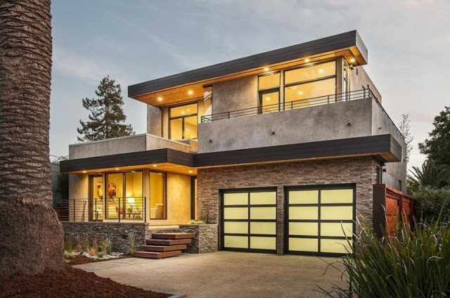 Natural Stone House Front Design Ideas