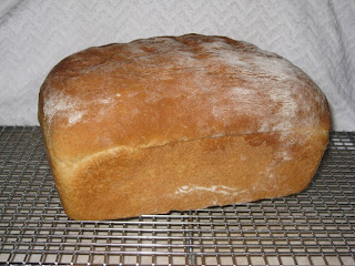 soft white loaf of homemade bread