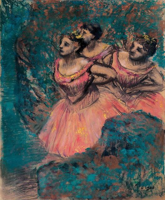 Эдгар Дега - Три танцовщицы в красном (1896)
