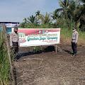 Budidaya Tanaman Talas Pratama bersama Bhabinkamtibmas Kelurahan Sungai Perak Polsek Tembilahan