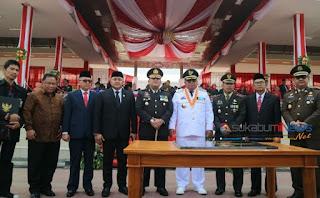 *upacara peringaatan hari jadi kabupaten sukabumi ke-149*