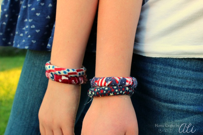 how to make easy patriotic bracelets for kids