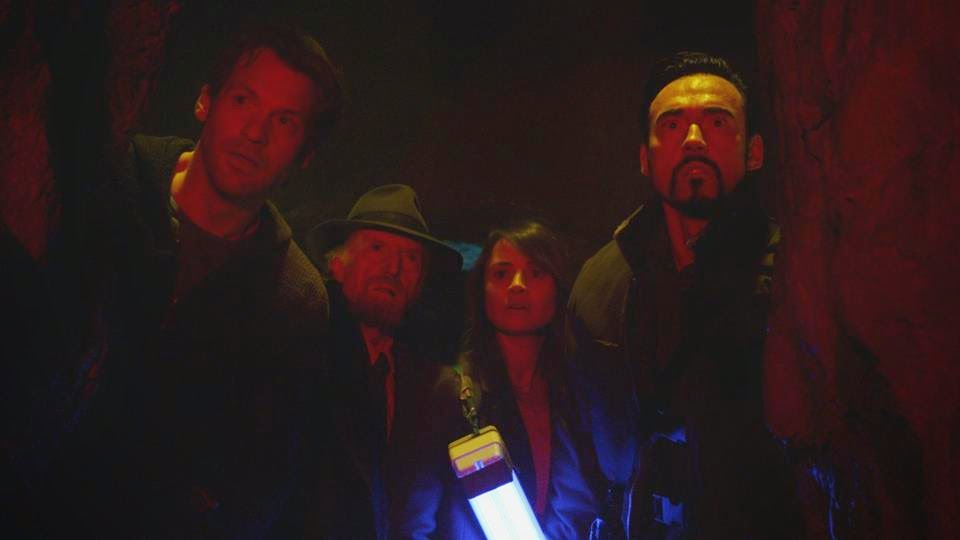 Corey Stoll, David Bradley, Mia Maestro and Kevin Durand as Eph Goodweather, Abraham Setrakian, Nora Martinez and Vasiliy Fet hunting vampires in FX The Strain