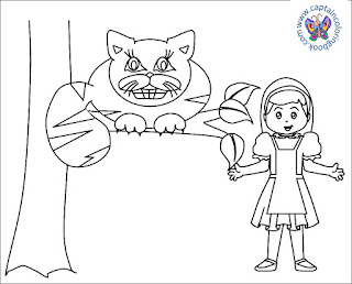 Alice in Wonderland Coloring Pages Click Here To Download PDF