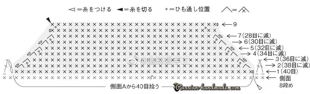 Пинетки-кеды крючком. Схемы вязания (7)