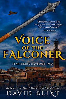 Cover Reveal for VOICE OF THE FALCONER & FORTUNE'S FOOL by David Blixt