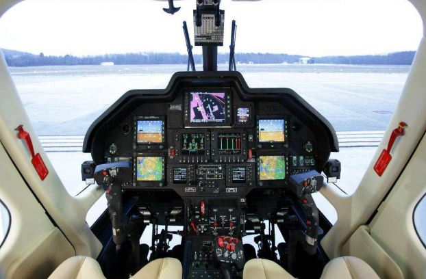 AgustaWestland AW109 Power cockpit