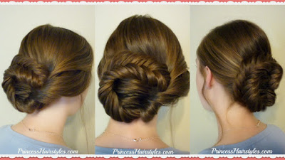 Fishtail updo hairstyle tutorial