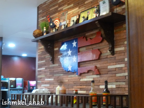 American display in Meat Plus Cafe Subic