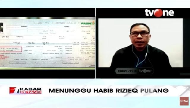 FPI Duga Dubes Agus Maftuh Sabotase Tiket Pulang Habib Rizieq