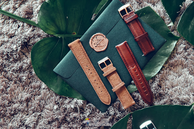 Brown Tweed and brown leather strap for Nocturne Watch