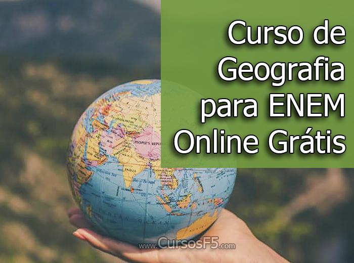Curso de Geografia para ENEM Online Grátis