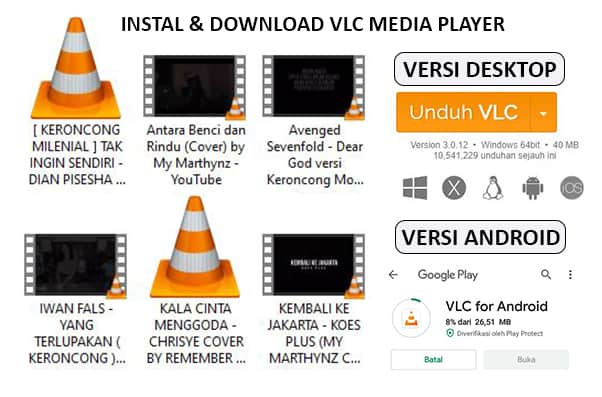 instal dan download vlc gratis