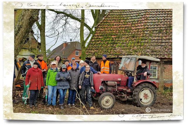 Arbeitseinsaz mit ehrenamtlichen Helfern des HVV Martfeld