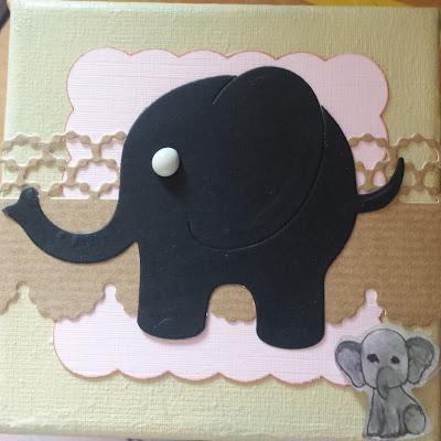 "Elephant 4""stretch canvas"