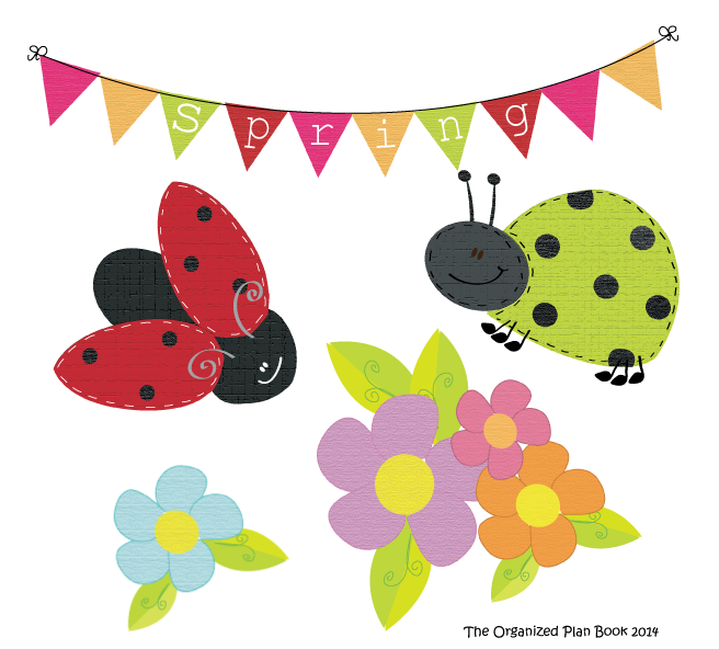 New Spring Lady Bug Clip Art Pack (Free) - The Organized ...
