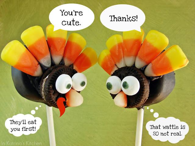 Turkey Candy Pops @KatrinasKitchen