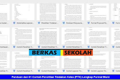 Panduan dan 61 Contoh Penelitian Tindakan Kelas (PTK) Lengkap Format Word