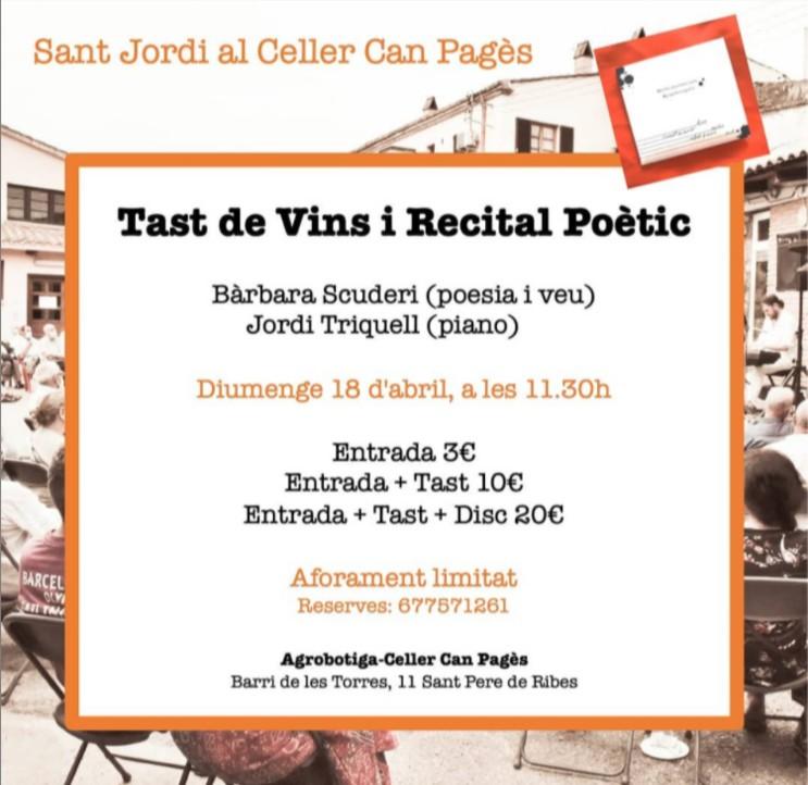 Recital poètic i tast de vins