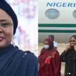 Aisha Buhari experiences plane crash scare as she returns from medical trip to Dubai