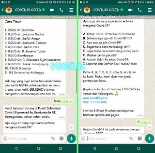 Cara Cek Info Virus Corona Terbaru Melalui Whatsapp Menkominfo 2