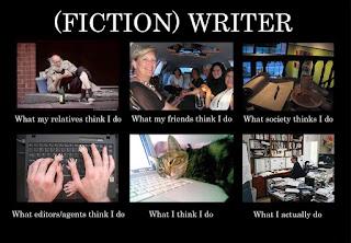 escribir ficción: lo que haces frente a lo que los demás piensan que haces