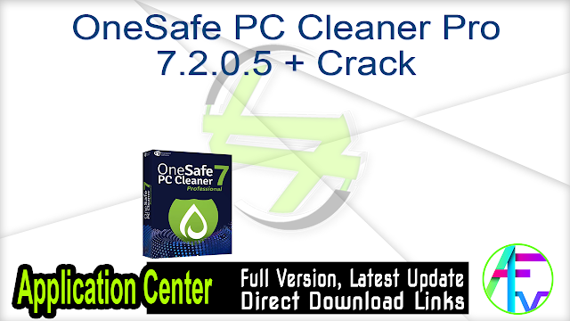 OneSafe PC Cleaner Pro 7.2.0.5 + Crack