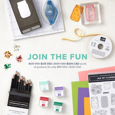 Join my team as a Stampin' Up! Demonstrator for $99 USD and Select $155 USD in merchandise