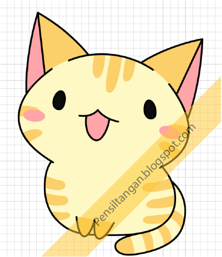 Gambar Kucing Chibi godean.web.id