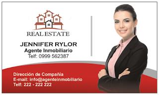 Tarjetas de presentación para agente inmobiliario
