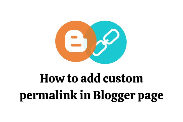 BlogSpot Page Custom Permalink