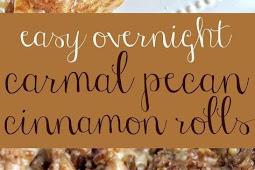 Easy Overnight Caramel Pecan Cinnamon Rolls