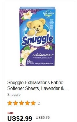 Snuggle Plus SuperFresh Fabric Softener Dryer Sheets