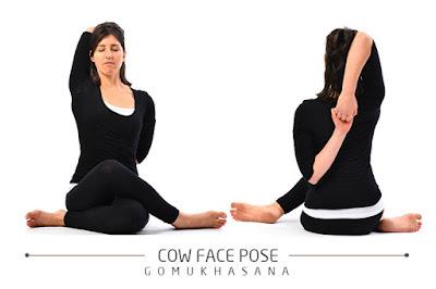 Gomukhasana for stress