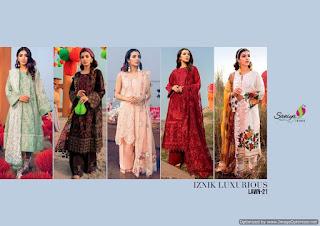 Saniya Trendz Luxury lawn vol 21 Pakistani Suits
