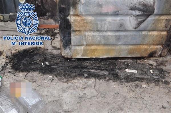 Detenido por quemar 107 contenedores, Gran Canaria