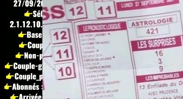 Pronostics quinté pmu Lundi Paris-Turf TV-100 % 27/09/2021