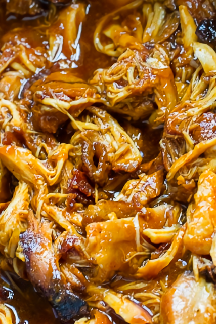 Crock Pot Bourbon Bacon Pulled Chicken Recipe