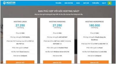 website hoặc hosting không đảm bảo