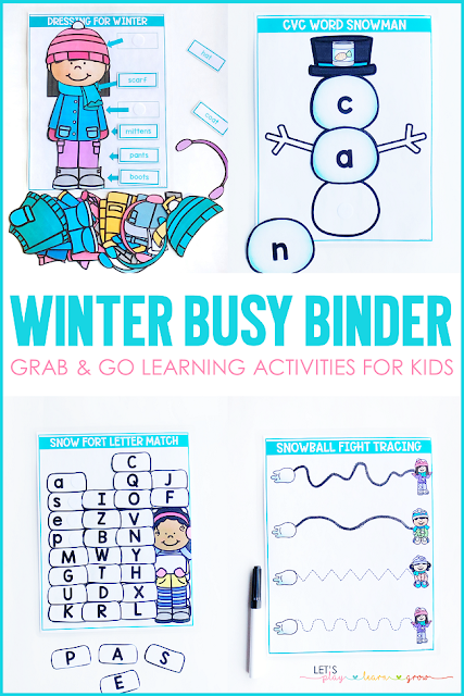 Winter Themed Busy Binder