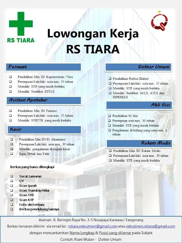 Loker Dokter RS TIARA Tangerang
